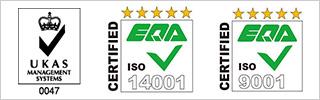 UKAS ISO14001 ISO9001